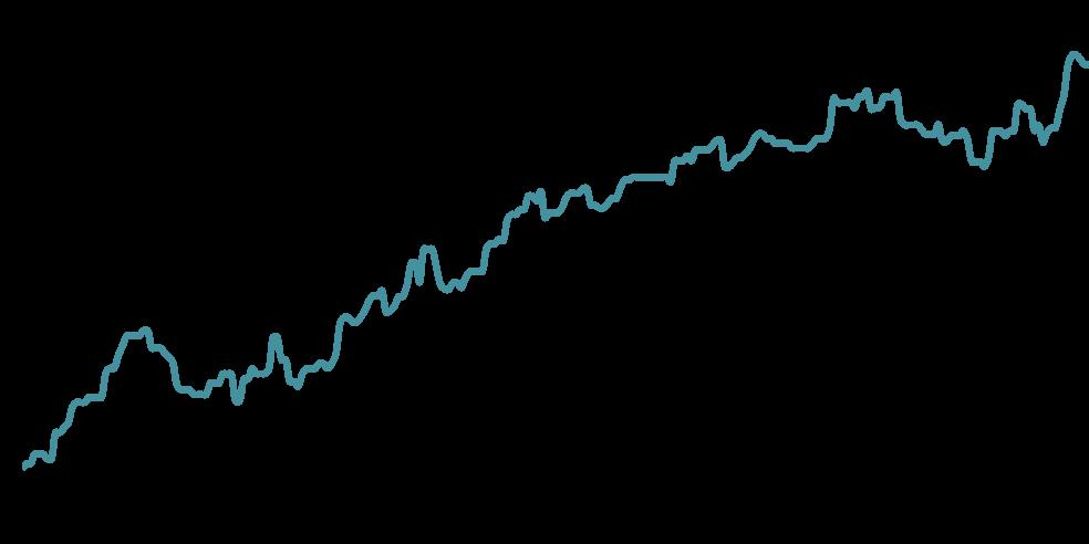 Grafico de rentabilidade do Portfolio Starter
